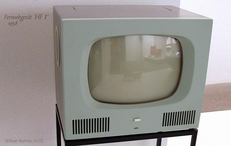 Farbfoto: Fernsehgerät HF 1 - 1958