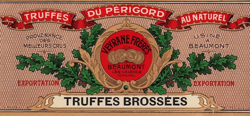 Etikett für französische Trüffel