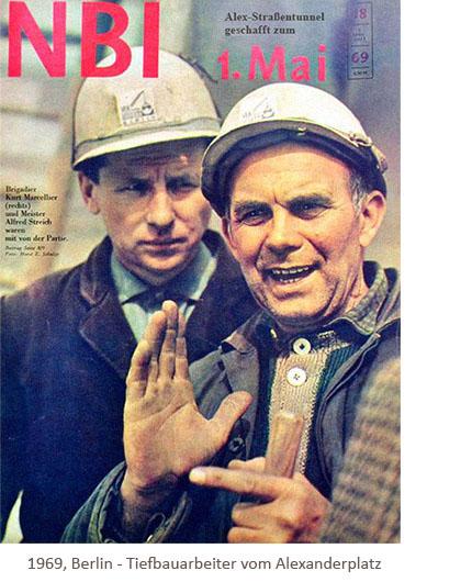 NBI-Titelseite: 2 Tiefbauer vom Alexanderplatz - 1969, Berlin