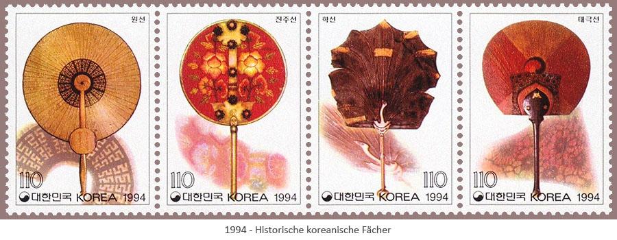 Briefmarken: Hist. koreanische Fächer - 1994