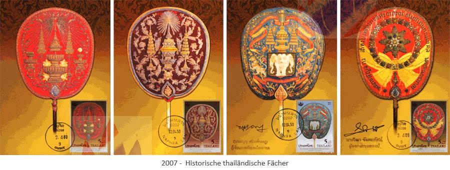 Briefmarken: Hist. thailändische Fächer - 2007, TH