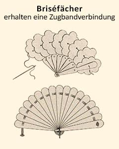 Zeichnung: Briséfächer erhalten eine Zugbandverbindung