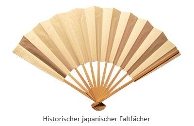 Farbfoto: japanischer Papierfaltfächer