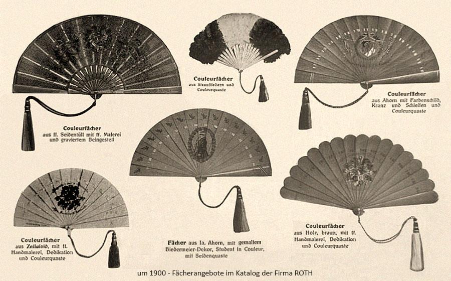 Fächerangebote in einem dt. Katalog ~1900
