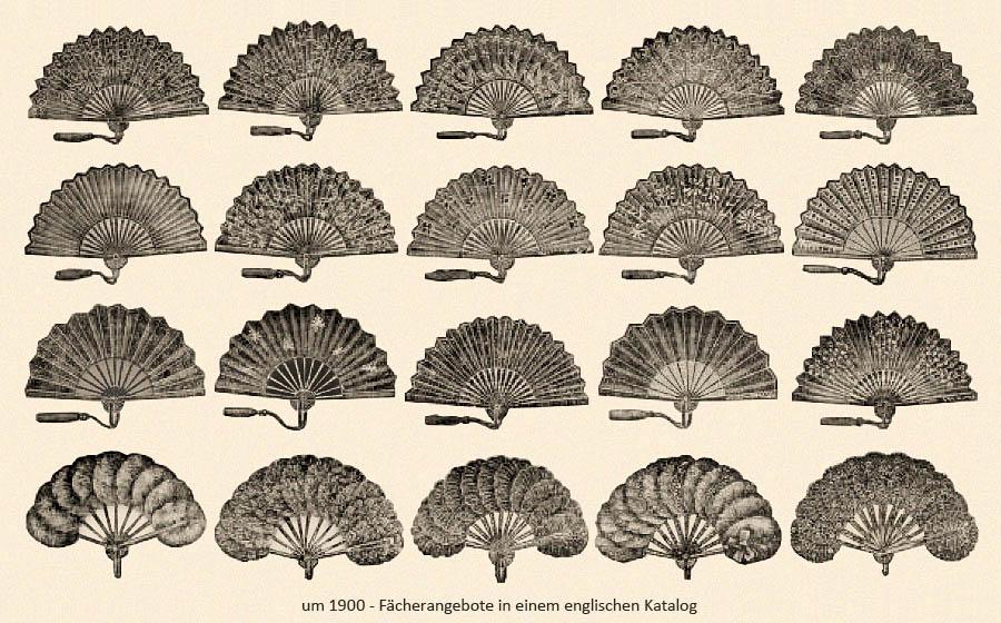 Fächerangebote in einem engl. Katalog ~1900