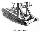 sw-Zeichnung: Holzgerät zur Seilherstellung