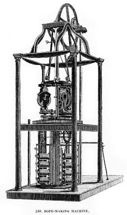 sw-Zeichnung: Seilmacher-Maschine