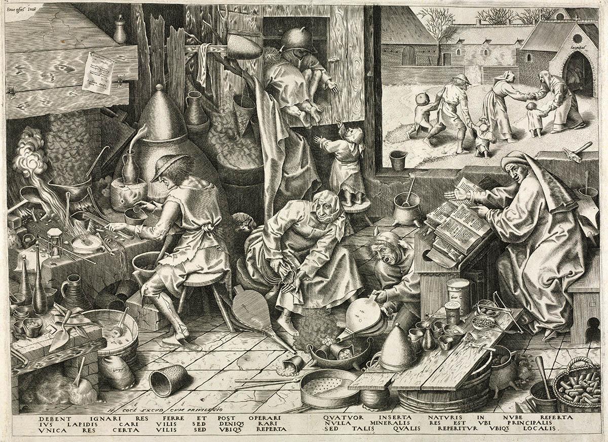 Stich: Durcheinander im Alchemistenlabor