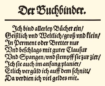 Originaltext 'Der Buchbinder' - 1568