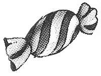 sw-illu: eingewickelter Bonbon