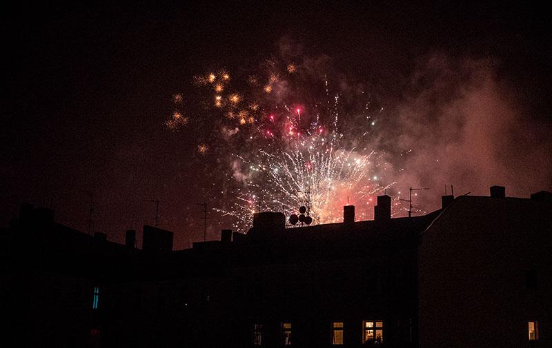 Foto: Feuerwerk über der Stadt