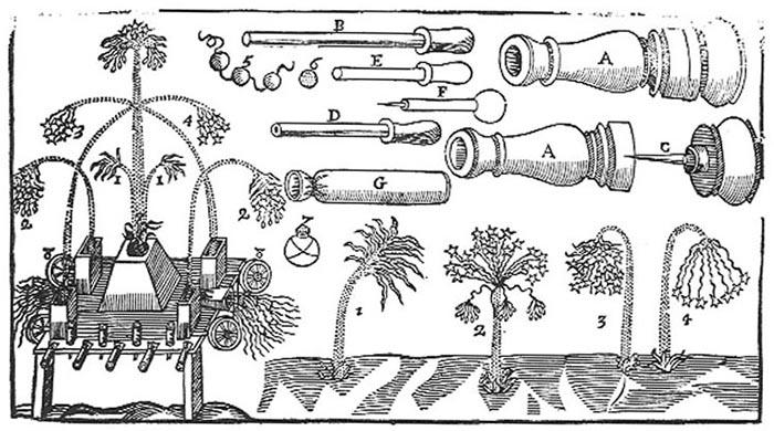sw-Illustration: Einzelteile vom Feuerwerk