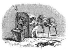 sw-illu: Mann an einer Maschine