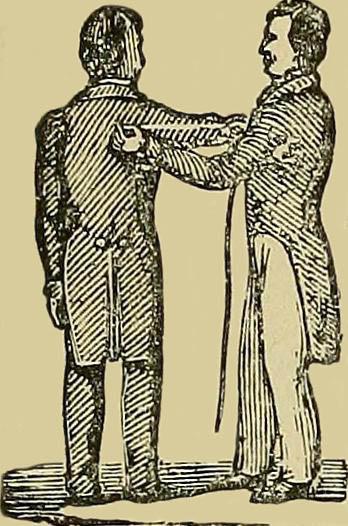 Mann nimmt Maß bei einem Herren