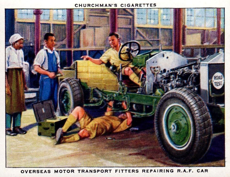 Sammelbild: Mechaniker reparieren Auto