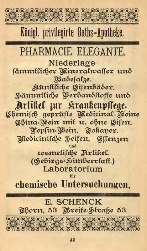 Alte Anzeige einer Raths-Apotheke